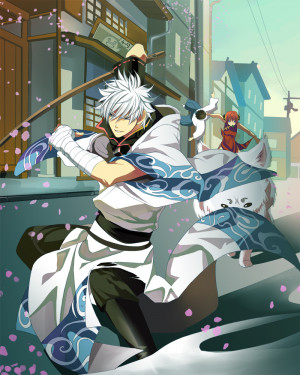 Gintama Gintoki and Kagura