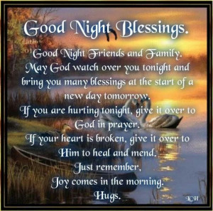 Good Night Blessings! ~
