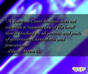 Supreme Court decision does not establish