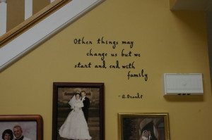 Cute Family Love Quotes and Sayings in Master Bedroom Wall Decorating ...