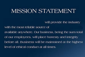 The fundamental shortcoming of most mission statements is that ...