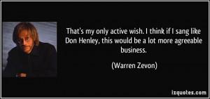 More Warren Zevon Quotes
