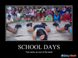 the best day of school for 90 percent of those kids in the front row