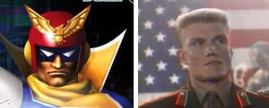 Captain Falcon Ivan Drago...