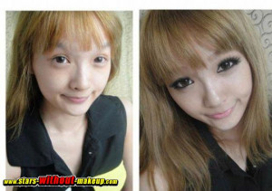 asian girls without makup