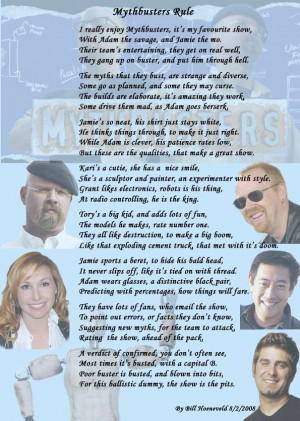 Epic Mythbusters poem.