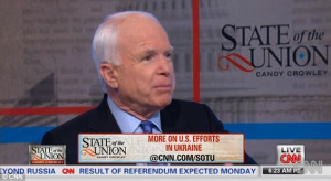 Offensive: Senator John McCain appeared on CNN Sunday after a trip ...