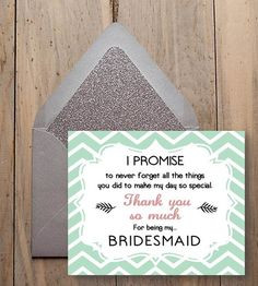 my bridesmaid bridesmaid thank you gift chevron style digital wedding ...