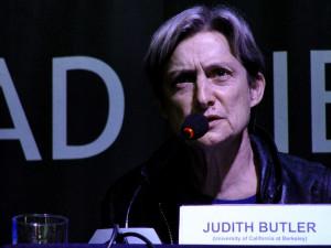 Judith Butler en una conferencia en Santiago de Chile .