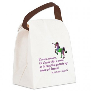 ... Gifts > Abctv Bags & Totes > Scrubs Unicorn Quotes Canvas Lunch Bag