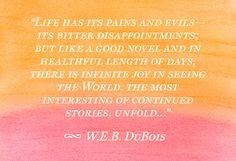 Who are you?: W.E.B. DuBois was famous for this quote and saying there ...