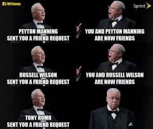 ... Funny Bones, Friends Request, Funny Quotes, Funny Stuff, Tony Romo