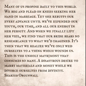 Shakieb Orgunwall quotes prose poems