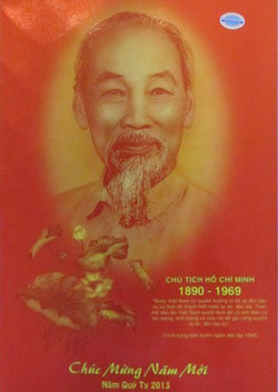 ... featuring quotes from late President Ho Chi Minh. — VNS Photo