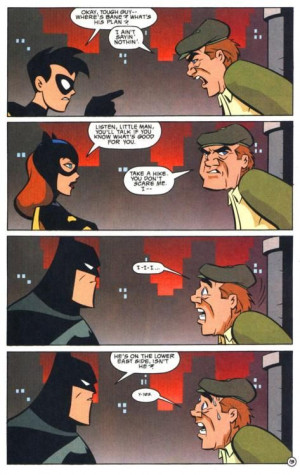 Robin and Batgirl need to work on their Batman Face
