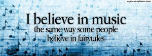 believe in music Facebook Cover