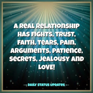 ... trust, faith, tears, pain, arguments, patience, secrets, jealousy and