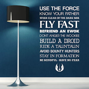 STAR-WARS-USE-THE-FORCE-vinyl-wall-art-quote-sticker-room-decal-sci-fi ...