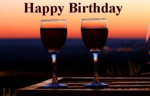Happy birthday wine Image