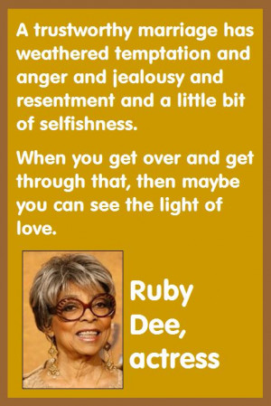 Actress Ruby Dee describes how her 50-year marriage with Ossie Davis ...