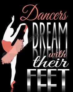 home decor for ballet dancer ballerina dance teacher friend or girls ...