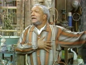 did my best Fred Sanford impersonation after giving my credit card a ...