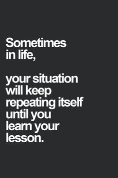 Life's too short for repeating mistakes. You can end the repetition ...