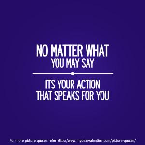 No matter what you may