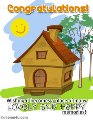 greeting for new home, greeting cards for new home, congratulations ...
