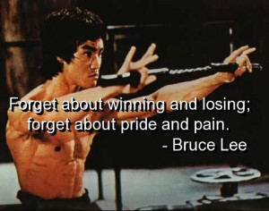 Winning, losing, pride, pain.