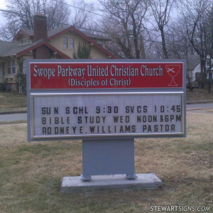 Sign for Swope Parkway United Christian Church