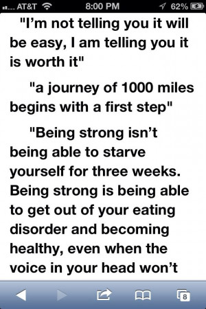 starving yourself, strength is letting go of the need to deny yourself ...