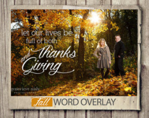 ... Thanksgiving Quote Photo Words Phrases Set - Chalkboard INSTANT