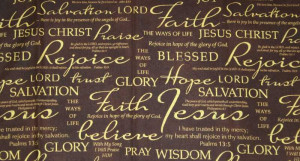 Details about Christian Bible Verses Faith Church Psalms Brown Curtain ...