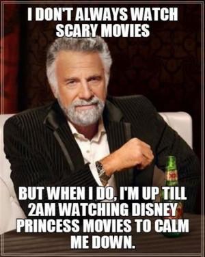 Calm down and watch Disney princess movies