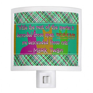 pick Color/Redheads from Cats Mark Twain Quote Nite Lite