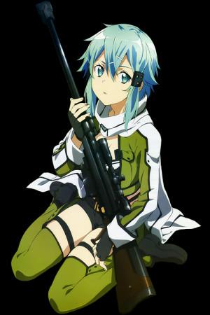 transparent Sword Art Online Asada Shino sinon
