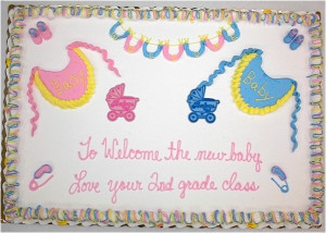 Photos of the baby shower cake sayings
