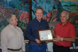 Senator Mike Crapo Holding A Award