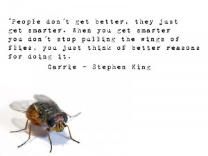 Just some random Stephen King quotes. Cuz he's just a very quotable ...