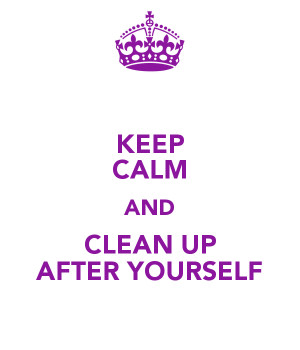 cute sayings for clean up after yourself | just b.CAUSE
