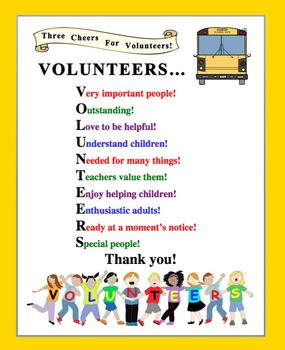 School Volunteer Thank You Poem http://kootation.com/year-volunteer ...