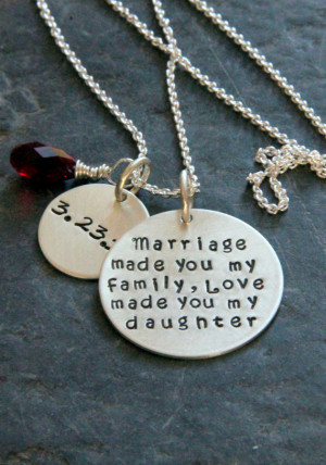 ... , Marriage, Mother, Gift from Groom's Mom, NEcklace, Wedding