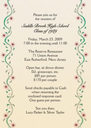 Class Reunion Invitations Announcements And Invites
