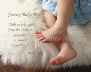 8x10 Sweet Baby Boy (or Custom Name and Birthdate) Nursery Room Decor ...