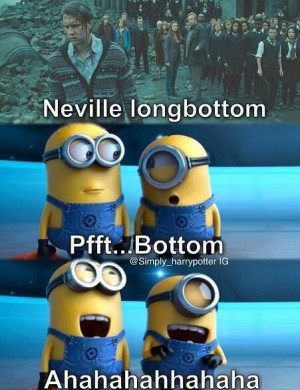 ... Funny Stuff, Minions Despicable Me Humor, So Funny, Neville Longbottom
