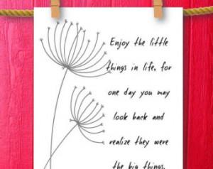 ... Dandelion Art - Framed Quotes Print - Typography Printable Art Sign