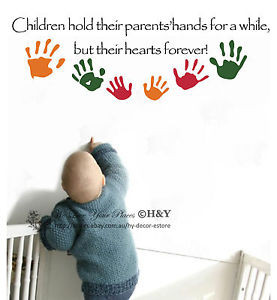 ... Hands-Kids-Room-Nursery-Wall-Sticker-Vinyl-Decal-Removable-Decor-Quote