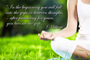 "Inspirational Quote: ""In the beginning you will fall into the gaps ..."