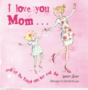 Love To Dance With My Nice Mom Quote In Pink Theme